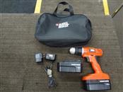 BLACK & DECKER GC01800 18-VOLT 10MM CORDLESS DRILL/DRIVER W/2 BATTS/CHARGER/CASE